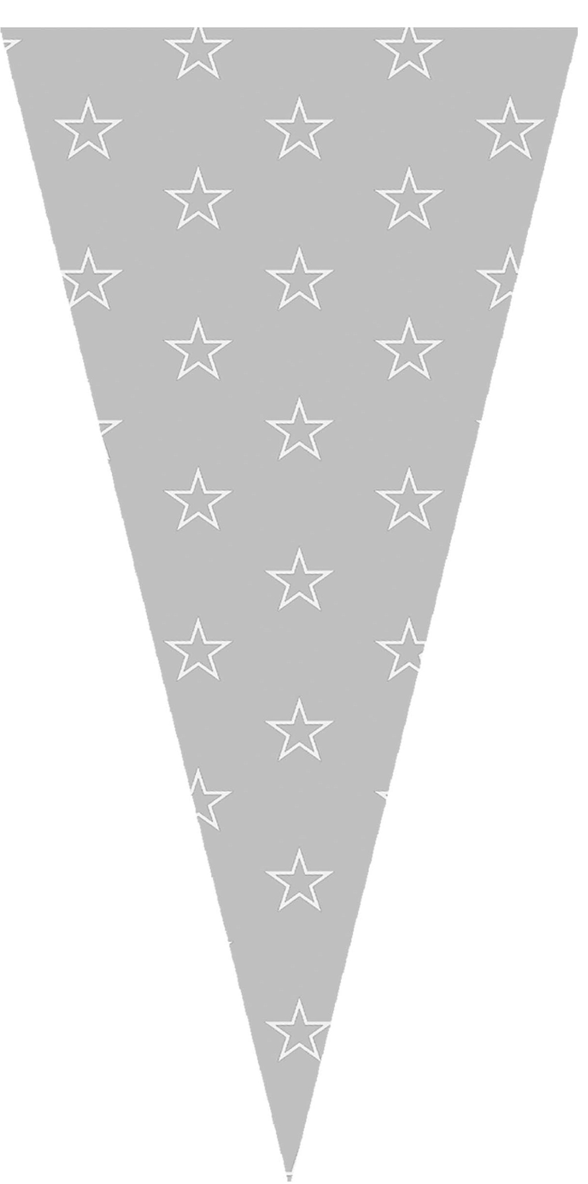 40412 Bolsa Cono 20X40 Estrellas Blancas Image