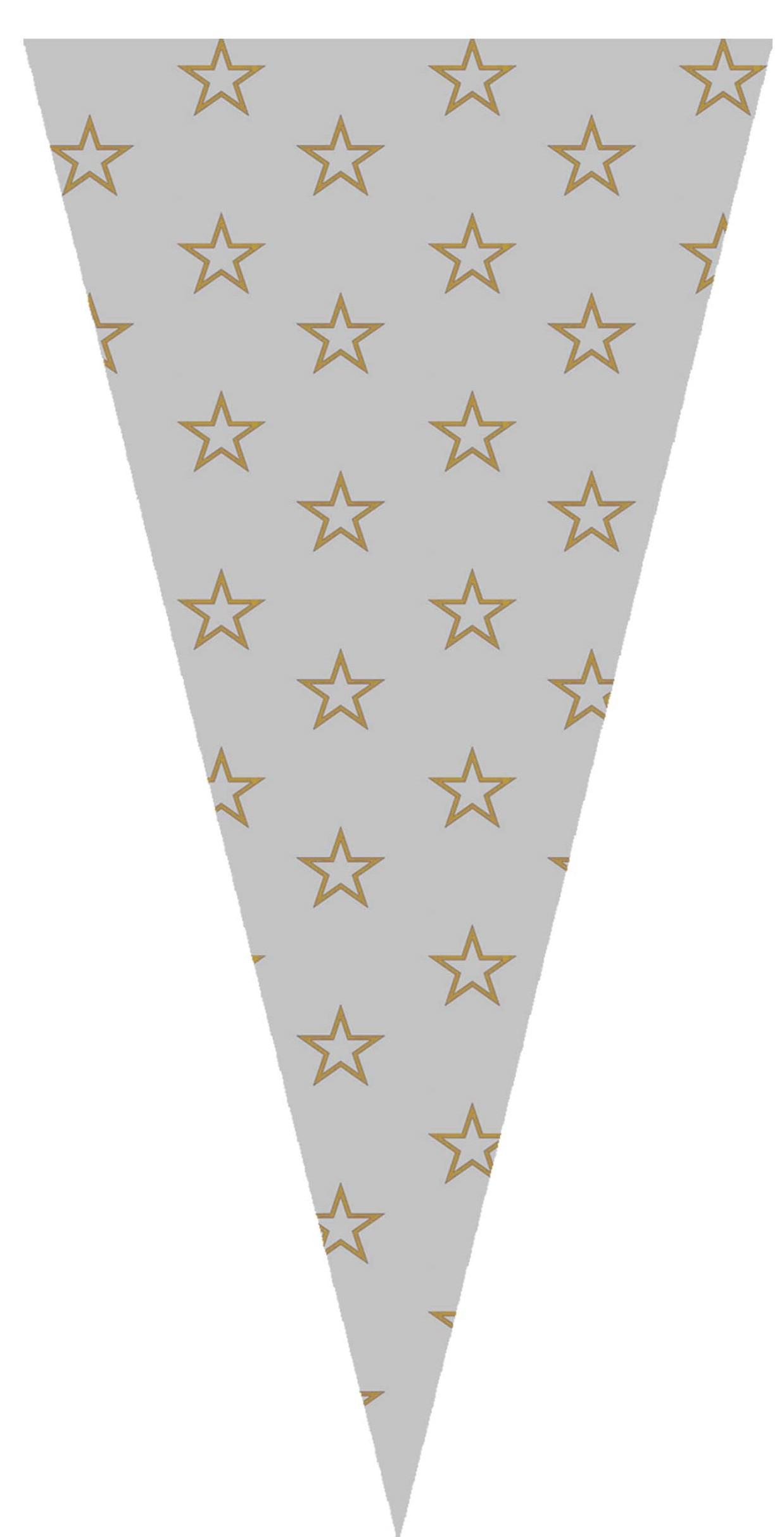 40414 Bolsa Cono 20X40 Estrellas Oro Image