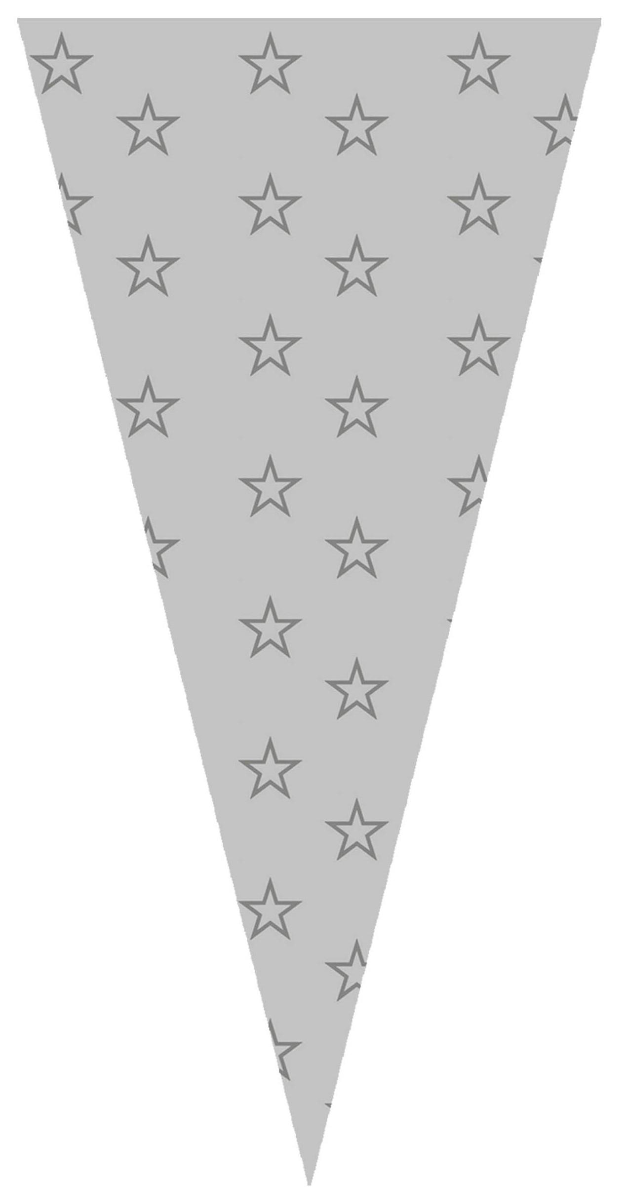 40413 Bolsa Cono 20X40 Estrellas Plata Image