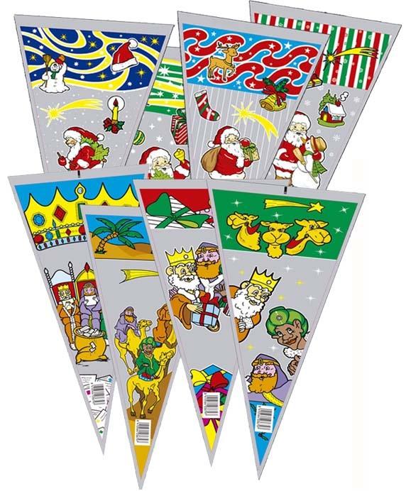 1586 Bolsa Cono 20X45 Papa Noel Y Reyes Caja Surtida Image