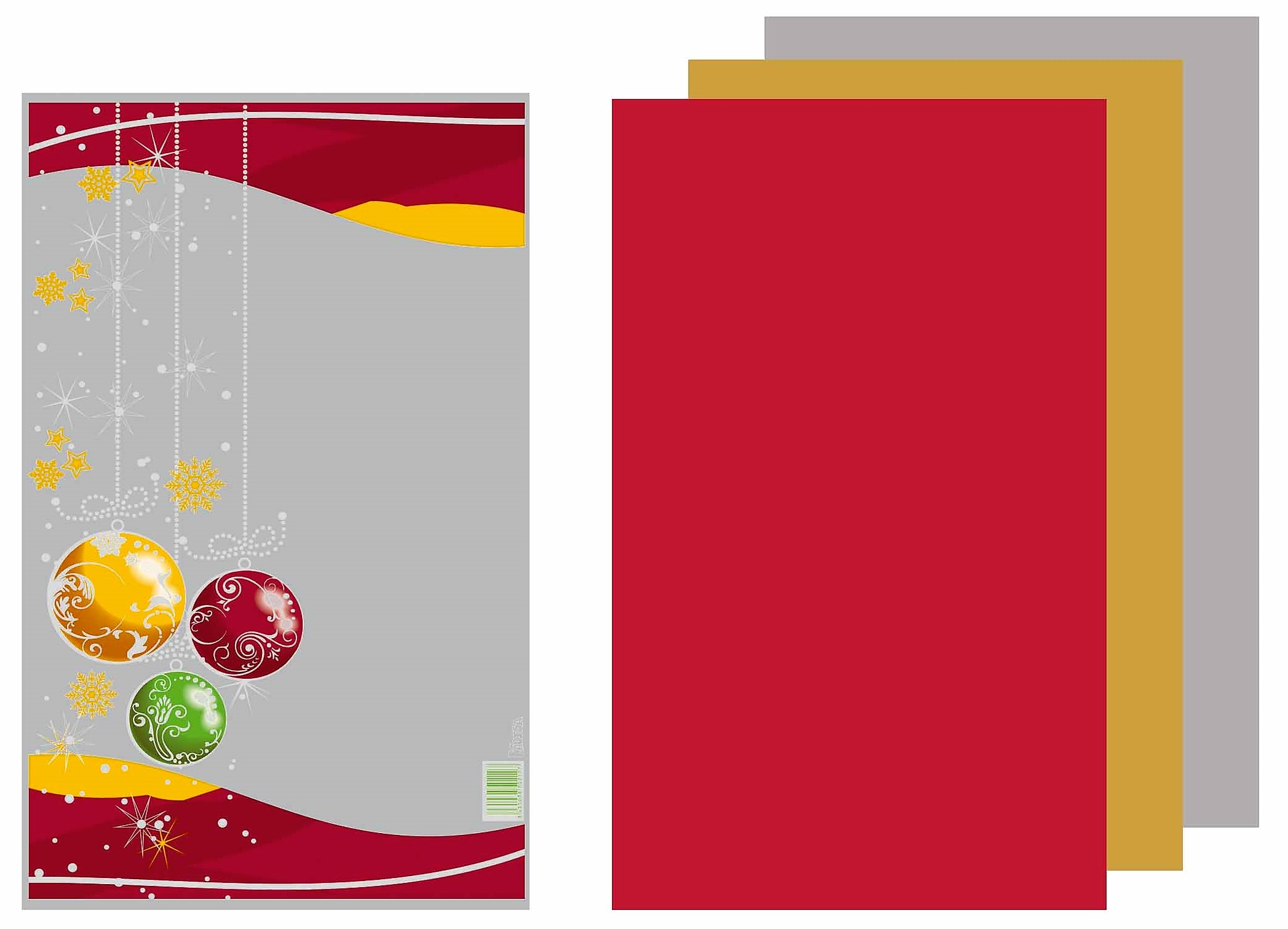 41078 Bolsa Cuadrada Elegance Navidad Bolas 21X35 Caja Surtida Image
