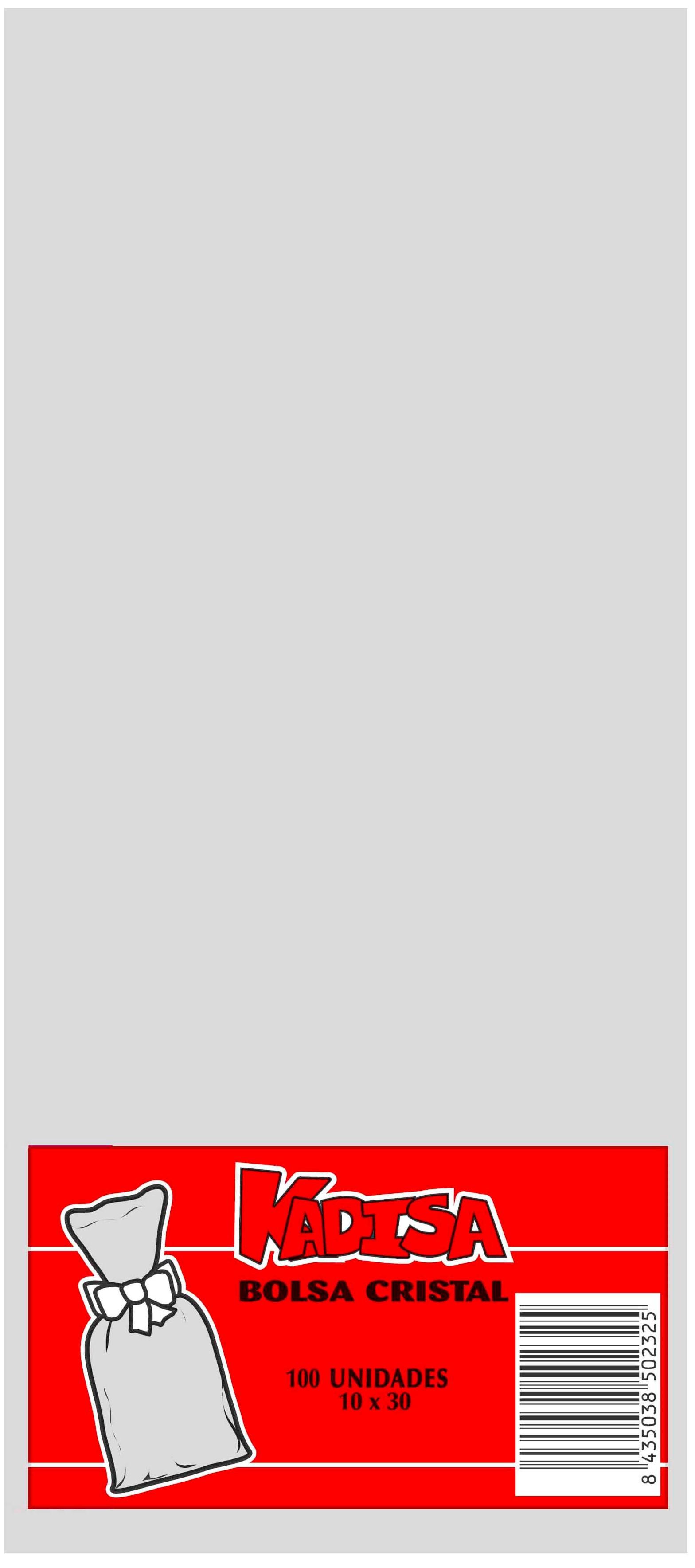 40748 Bolsa Cristal Transparente 10X30 Image