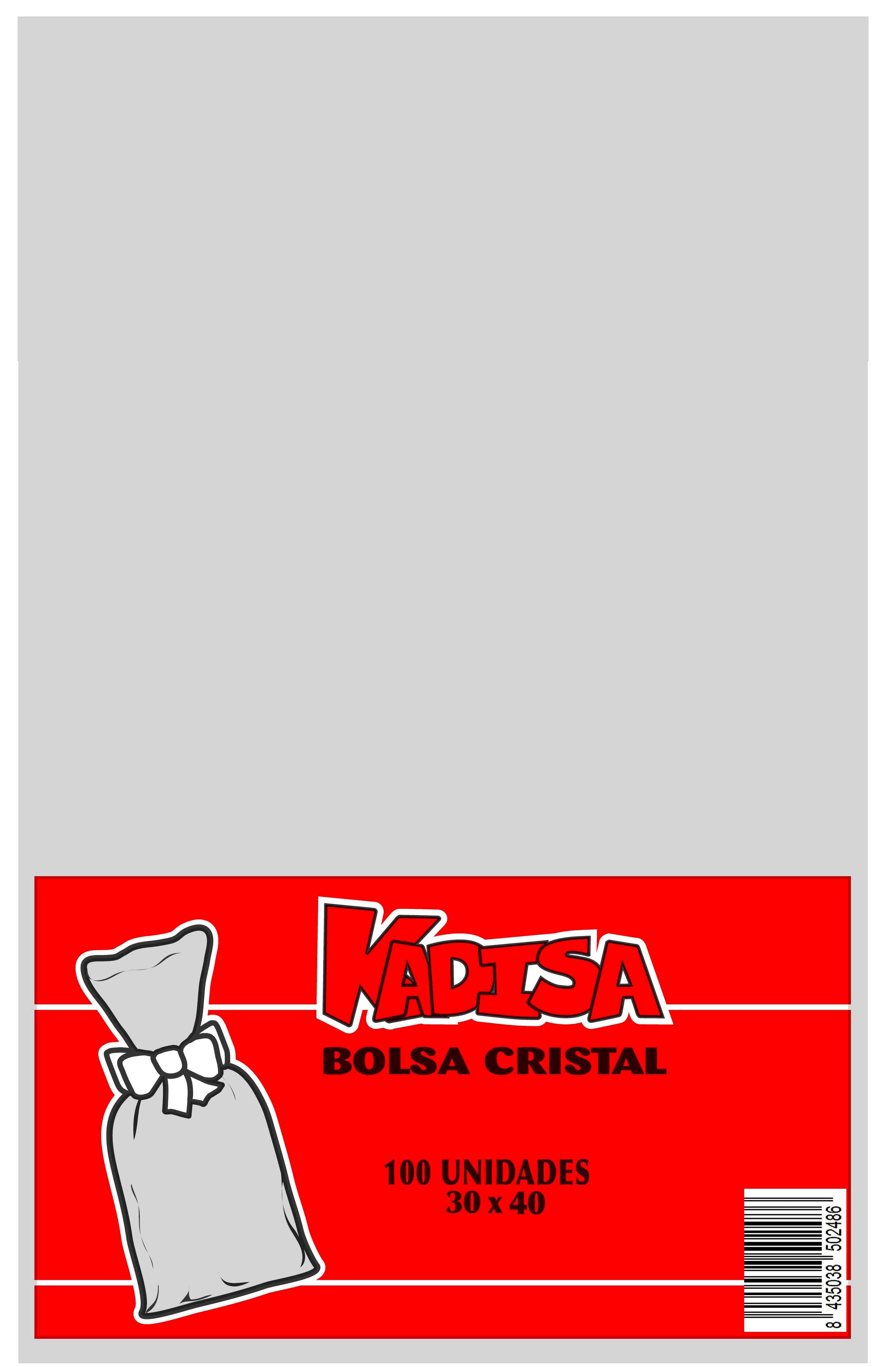 41002 Bolsa Cristal Transparente 30X40 Image