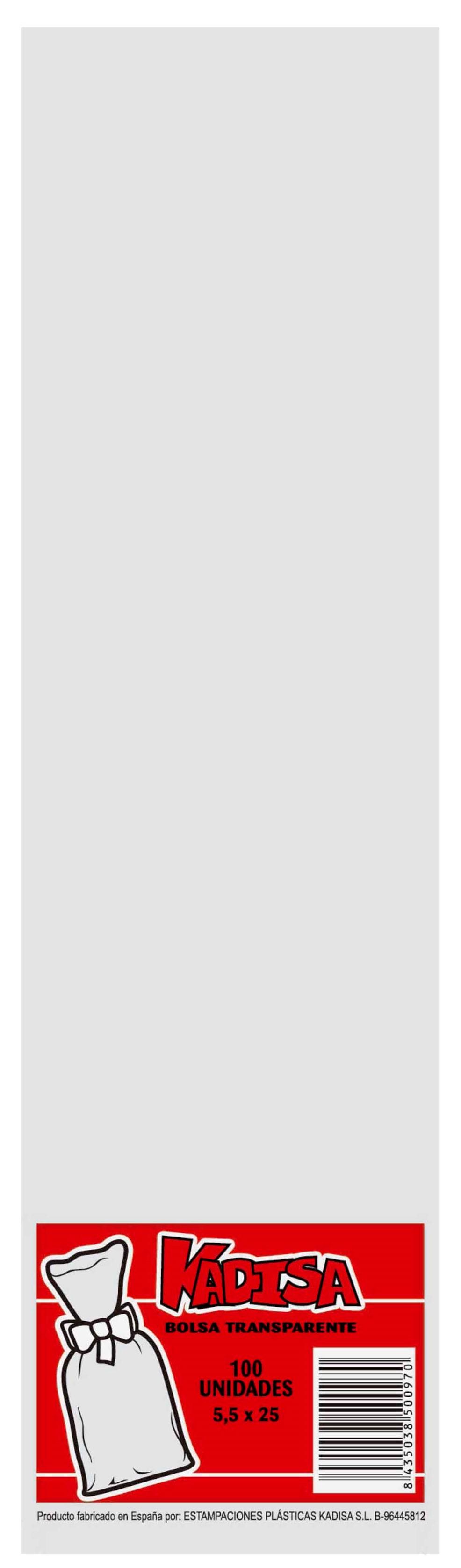 40779 Bolsa Cristal Transparente 5,5X25 Image