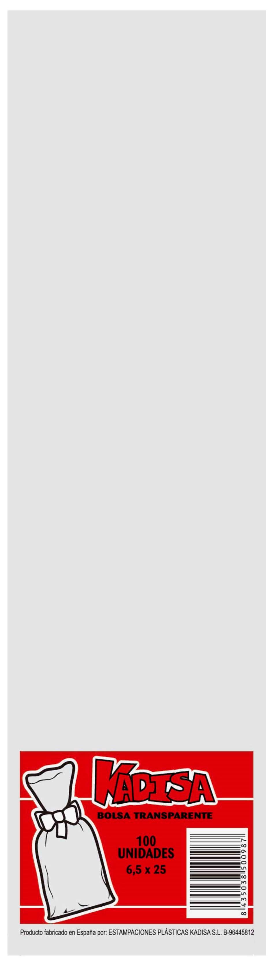 40785 Bolsa Cristal Transparente 6,5X25 Image