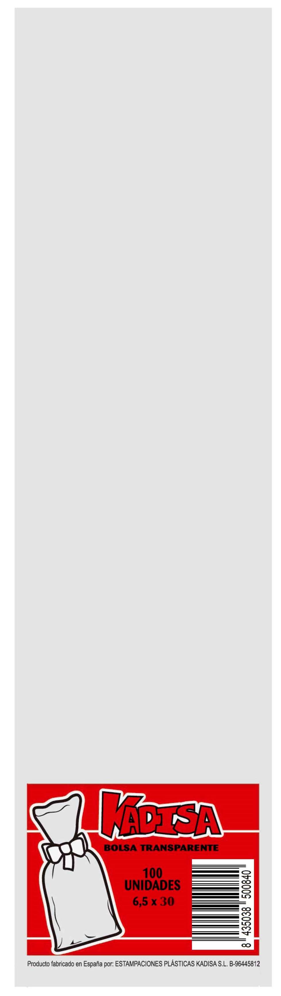 40745 Bolsa Cristal Transparente 6,5X30 Image
