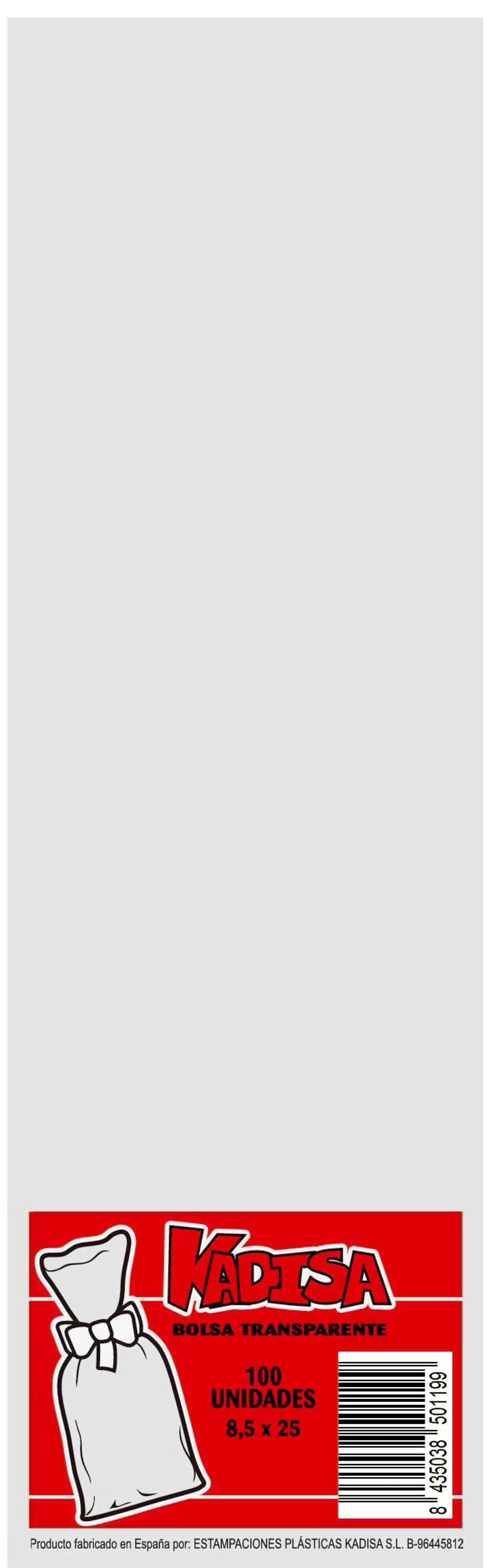 40739 Bolsa Cristal Transparente 8,5X25 Image