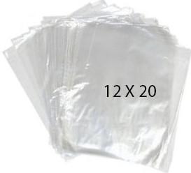 41074 Bolsa Transparente Polietileno 12X20 Image